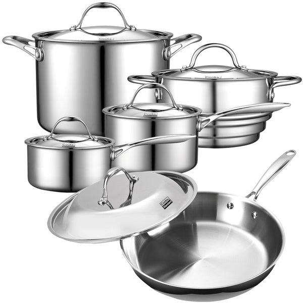 Cooks Standard 10-pc Stainless Steel Multi-ply Clad Cookware Set