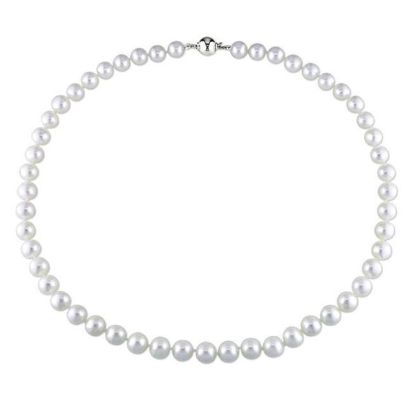 M by Miadora White 8-9mm Cultured Freshwater Pearl Necklace (16-24 inch)