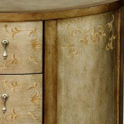 Hand-painted Oak Accent Chest