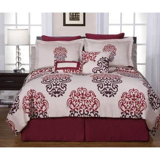 Cherry Blossom 12-piece California King-size Bed in a Bag with Sheet Set