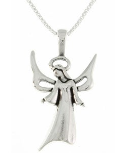CGC Sterling Silver Angel Necklace