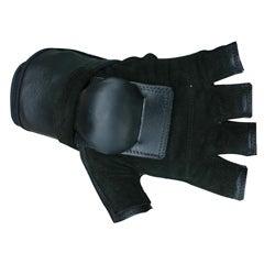MBS Large Half-finger Black Hillbilly Wrist Guard Gloves