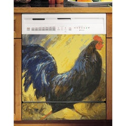 Appliance Art's Painted Blue Rooster Dishwasher Cover