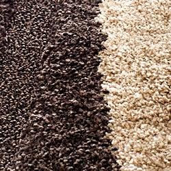 Safavieh Hand-woven Ultimate Dark Brown/ Cream Shag Rug (8' x 10')