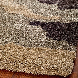 Safavieh Hand-woven Ultimate Beige/ Brown Shag Rug (4' x 6')