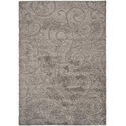Safavieh Ultimate Dark Grey/ Beige Shag Rug (5'3 x 7'6)