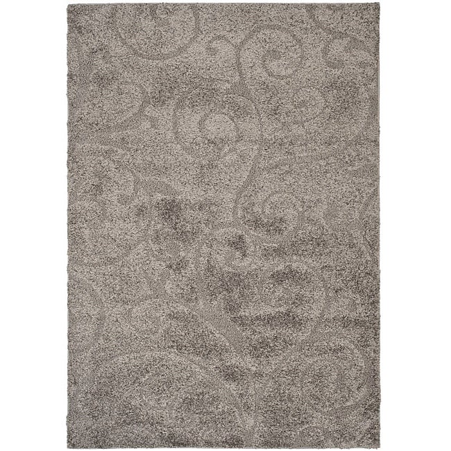 Safavieh Ultimate Dark Grey/ Beige Shag Rug (8' x 10')
