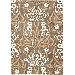 "Safavieh Ultimate Smoke/Beige Shag Area Rug (5'3"" x 7'6"")"