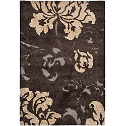 Safavieh Ultimate Dark Brown/ Beige Shag Rug (8' x 10')