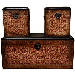 Set of 3 Olde-World European Storage Boxes (China)