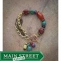 Vintage Metal and Gemstone Bracelet