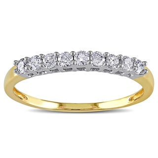 Miadora 10k Gold 1/4ct TDW Diamond Wedding Band (G-H, I2-I3)