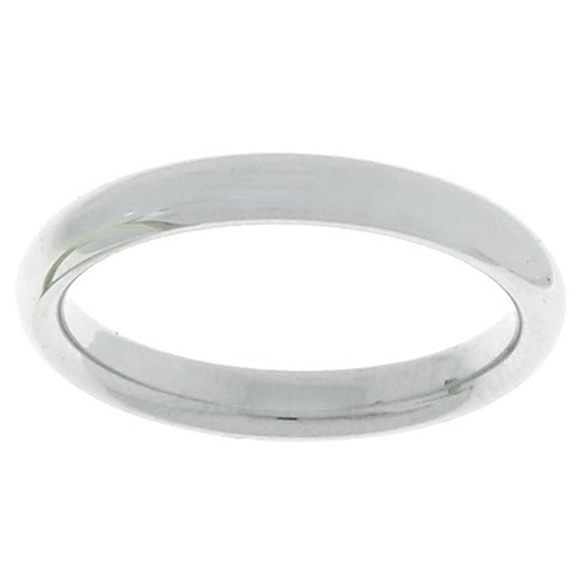 14k White Gold Men's 3-mm Comfort Fit Wedding Band