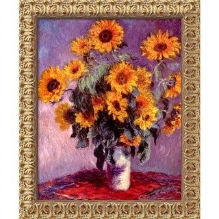 Claude Monet 'Sunflowers, 1881' Framed Art Canvas