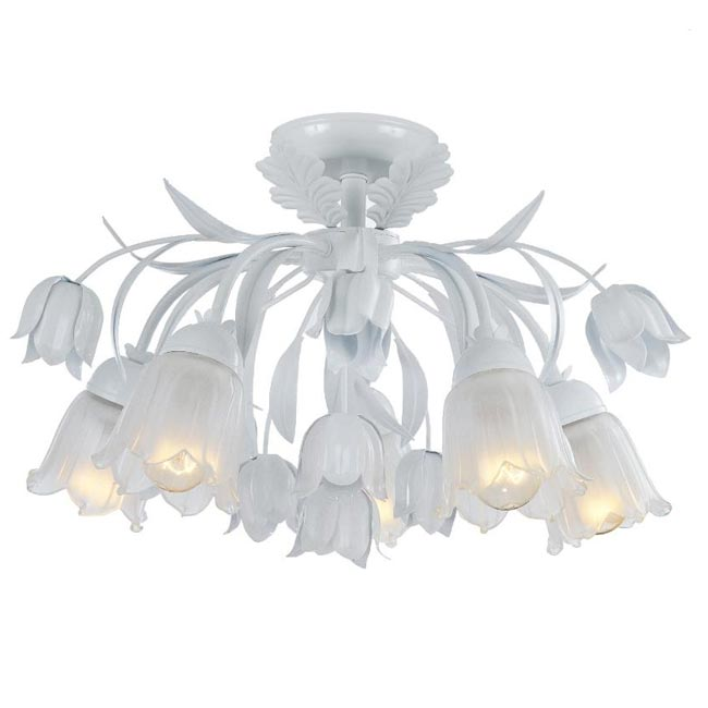 Southport 5-light Semi-flush White Chandelier