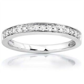 Annello 14k White or Rose Gold 1/6ct TDW Diamond Wedding Band (H-I, I1-I2)