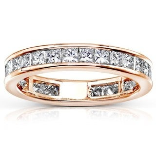 Annello 14k Gold 2ct TDW Diamond Eternity Wedding Band (H-I, I1-I2)