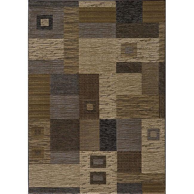 Dream Power-loomed Multi Squares Rug (9'3 x 12'6)