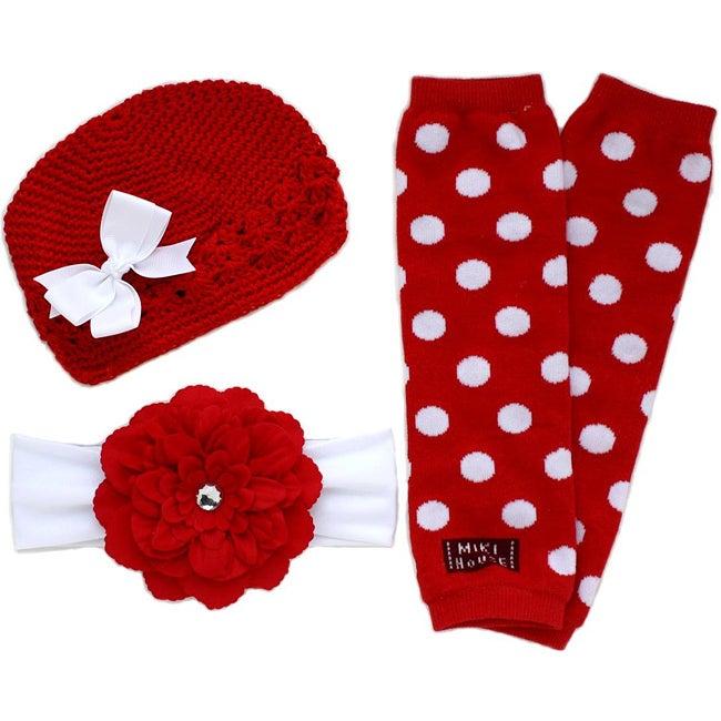 Headbandz Red/ White 5-piece Baby Accessory Pack
