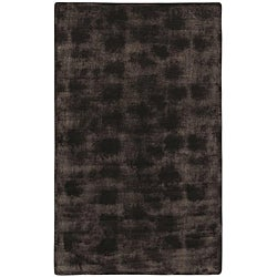 Faux Fur Brown/Black Animal Area Rug (5' x 8')