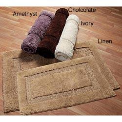 Nuevo Collection Cotton Non-skid Latex Backing 2-piece Bath Rug Set