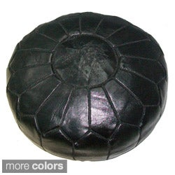 Leather Contemporary Ottoman (Morocco)