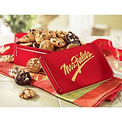 Mrs. Fields Classic 24 Nibblers Red Gift Tin