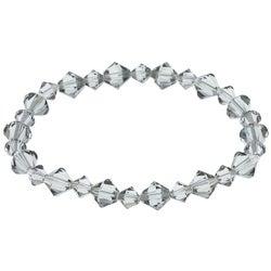 Crystale Black Crystal Stretch Bracelet