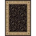 Amalfi Scroll Black Oriental Rug (7'9 x 11')