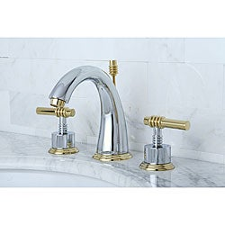 Milano Widespread Chrome/ Polished Brass Bathroom Faucet