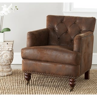 Safavieh Manchester Antiqued Brown Club Chair