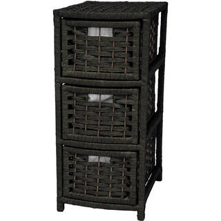 Natural Fiber 3-drawer Occasional Chest (China)