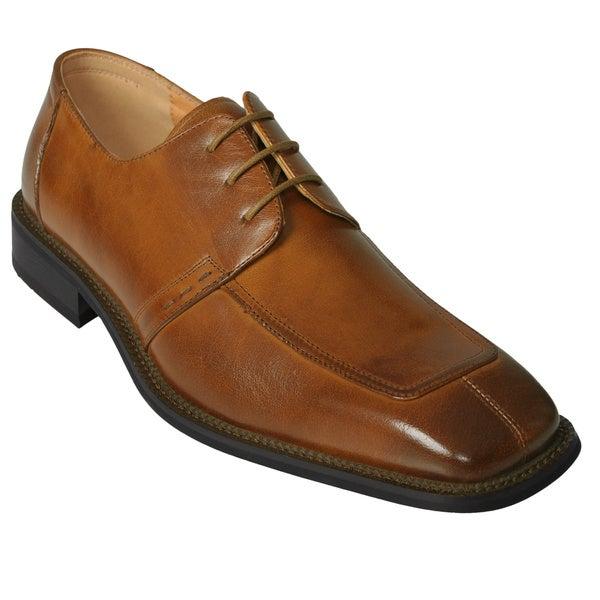 Boston Traveler Men's Faux Leather Oxfords