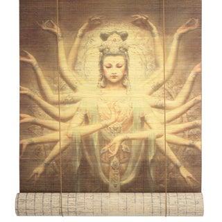 Bamboo 24-inch Thousand Arm Kwan Yin Window Blinds (China)
