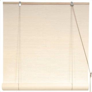Bamboo 24-inch White Window Blinds (China)