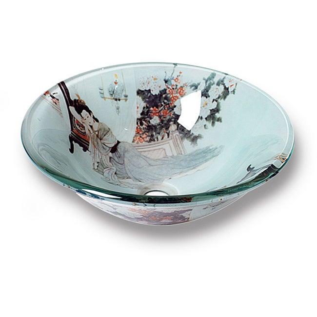 Xiu Modern Tempered Glass Vessel Sink by Flotera