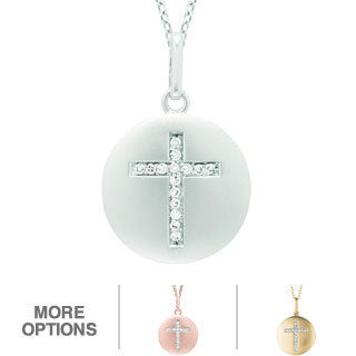 Sterling Silver Diamond Cross Necklace