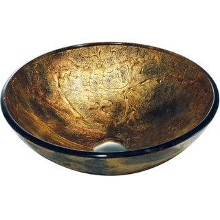 Copper Shapes Glass Vessel Bathroom Sink