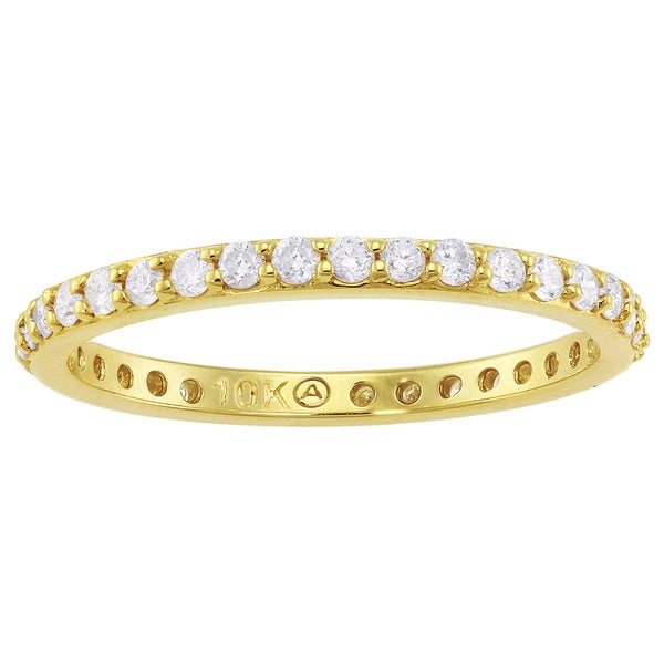 Beverly Hills Charm 10k Gold 1/2ct TDW Traditional Diamond Eternity Wedding Band (H-I, I2-I3)