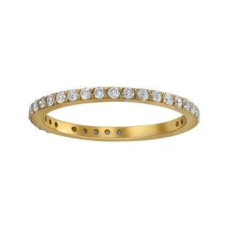 Beverly Hills Charm 10k Gold 1/2ct TDW Traditional Diamond Eternity Wedding Band (H-I, I2-I3)