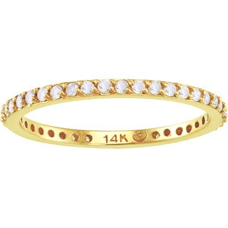 Beverly Hills Charm 14k Gold 1/3ct TDW Diamond Eternity Band (H-I, I2-I3)