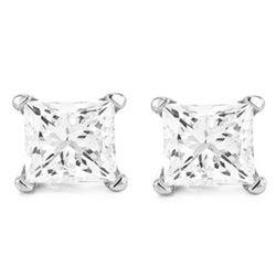 14k White Gold 1/4ct TDW Diamond Stud Earrings (I, VS2)