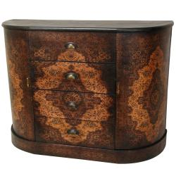 Wood Olde-Worlde European 4-drawer Credenza (China)