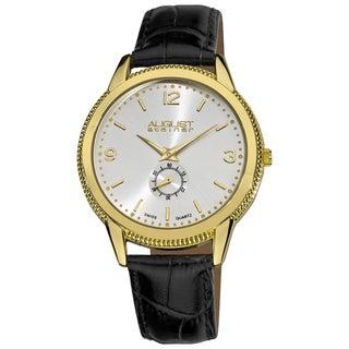 August Steiner Men's Leather Strap Watch