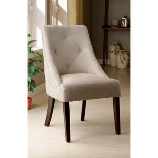 Furniture of America Ivory Aura Leisure Microfiber Dining Chair