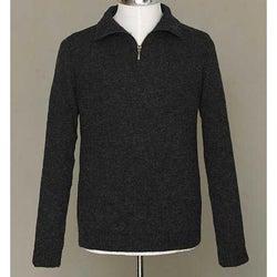 Alpaca Wool Men's 'Casual Gray' Quarter-zip Sweater (Peru)