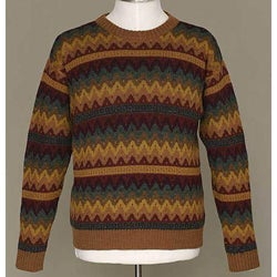 Alpaca Wool Men's 'Mountaineer' Crewneck Sweater (Peru)
