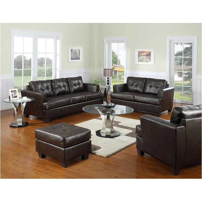 Brown Bonded Leather Sofa Overstock Shopping Great