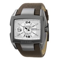 Diesel Men's DZ1216 Stainless Steel Case Brown Leather Strap Watch