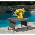 Christopher Knight Home Outdoor Wicker Adjustable Folding Table with Rich Brown Finish